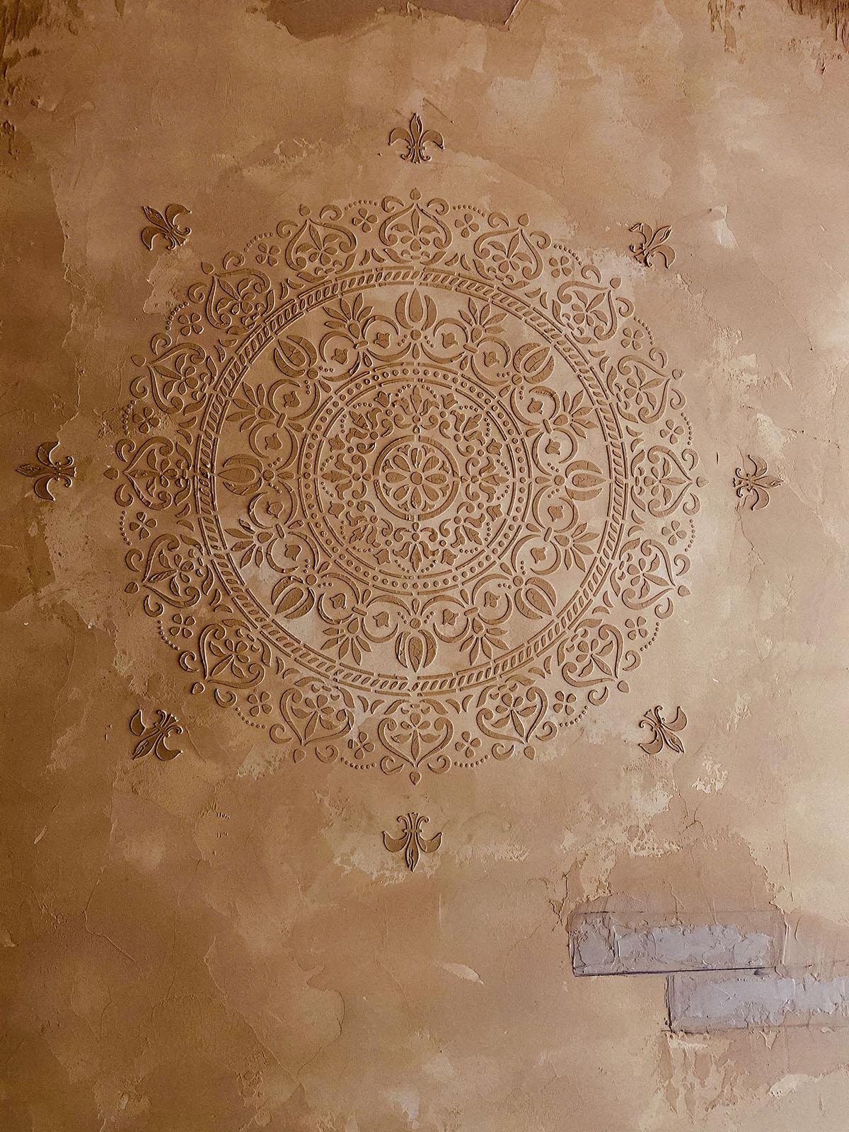 Mandala stencil dekorfal
